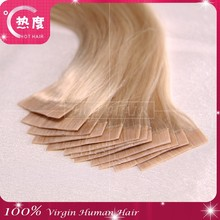 Wholesale tape in human hair extension remy virgin tape hair extension high quality straight tape hair skin weft