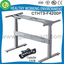 Variable height sit and stand desk leg with 2 legs 3 columns and modesty panel for wholesale