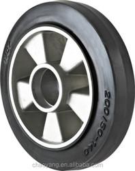 2015-t hot sale 160*50 Al rubber black wheels for pallet truck china supplier