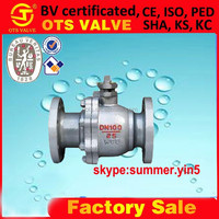 flange connection stainless steel ball valve DN50 with ISO5211 Direct mounting pad