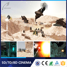 High Level Hydraulic/Electronic Hot Sale Children Game Gun Shooting 7D Cinema System