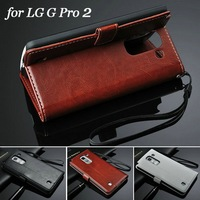 China Supplier New Product PU Leather Outdoor Wallet Cell Phone Case Wholesaler for LG Optimus G Pro 2 with Strap and Stand