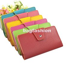 2012 Fashion Concise Envelope Clutch leather wallet