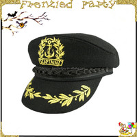wholesale cheap cosplay sailor hat black captain police hat FGH-1013