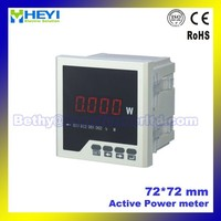 Measuring with high precision 72*72 mm Class 0.5 Single phase digital power meter (power analyzer)