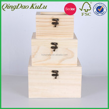 eco friendly natural pine wood unfinished wooden window box with latches,wooden box for sale