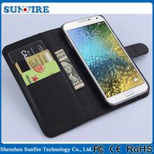 Leather flip case for samsung galaxy e7, flip case cover flip for samsung galaxy e7,pu cover case for samsung e7