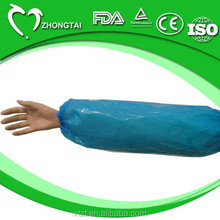Disposable nonwoven waterproof arm Sleeve made of PE material for daily medical and surgical use