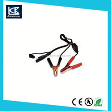 Insulated alligator clip battery cable for solor power device