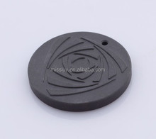 Multifunctional Lava Energy Xaga Charms,Customized Lasered Logo Obsidian Pendant For Jewelry Making