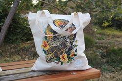 eco canvas tote bag/canvas tote bag monogramable