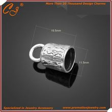 2012 popular bracelets cz findings components jewelry Cord Ending Stopping Acessory Weights Shaped