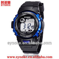 2014 teenage popular multifunction silicone electronic watches for promotional