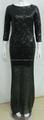 جميلة الأسود خطوات 2015 رائع الفساتين الطرف الطويل نصف كم فستان السهرة للبيع