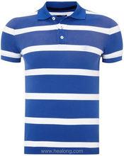 Healong Dye-Sublimation Printing Hong Kong Cotton Plain White Polo T-Shirt
