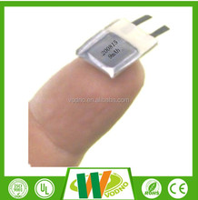 Hot!! li-polymer 200815 3.7V 9mAh battery for smart watch,wearable device