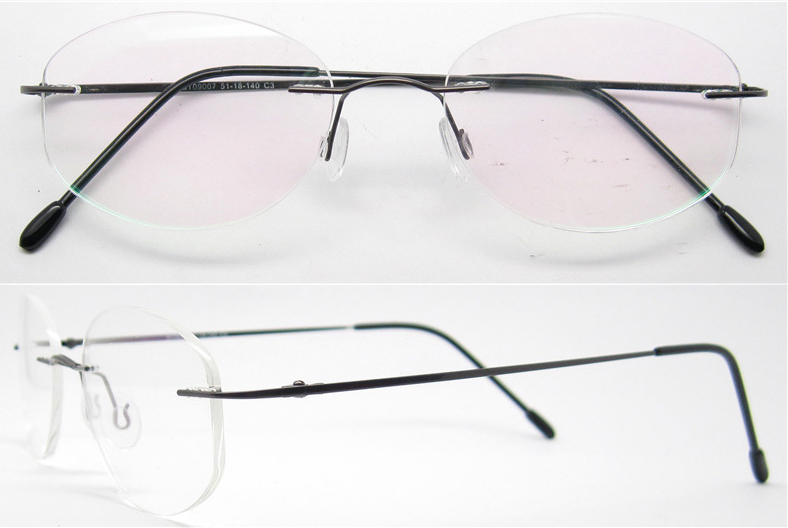 Rimless Eyeglass Frames 2015 : Wholesale 2015 hot sell men women metal fashion silhouette ...