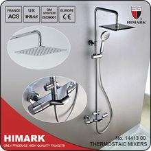 1 Set shower bath toilet basin surface mounted thermostatic rain shower faucet
