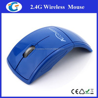 2.4ghz Optical Computer Foldable Mouse With 2.0 USB receiver