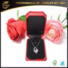 2015 hot sales Customized fabric necklace present Gift Box made in china