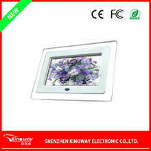 Alibaba Wholesale black/white advertising display LED gift promotion digital photo frame 7 inch K-1710DPF