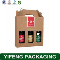 Craft Paper Packaging 6 Packer Beer Carrier In Paper