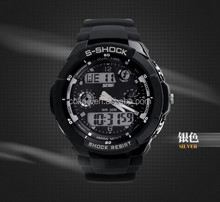 More function digital led mans sport wristwatch outdoor swim diving watch