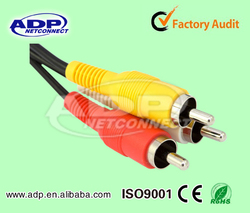 AV TV Cable 3.5mm Jack Plug to 3 RCA Male Video Audio Adapter Cable Cord DC
