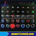 19mm micro interruptor pulsador de metal interruptor de botón con símbolo de energía de la luz