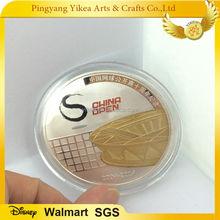 China Open two metal gold / silver souvenir coin