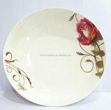 Cheap white porcelain plate with customized logo
