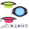 [Grace Pet] Silicone folding pet dog bowl water bowl Telescopic travel