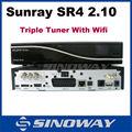 Sunray sr4 800hd se wifi triple tuner-empfänger beste hd decoder-empfänger für italien