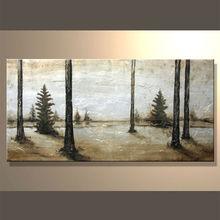 oil painting impressionist tree design