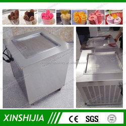 Thailand style 1 pan stainless steel fry ice cream machine(skype:xinshijia.jessica)