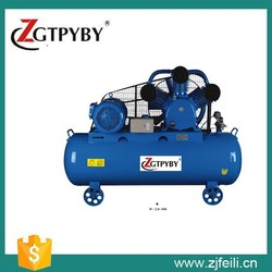 7.5kw 10hp portable configuration piston type two stage air cooled belt driven air compressor