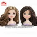 muñeca de plástico accesorios para el cabello peinado cabeza de la muñeca