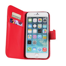 Stand wallet leather case for iphone 6,flip wallet leather case for iphone 6