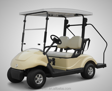 new energy 2 seater electric club cart with solar power panel/banks from china