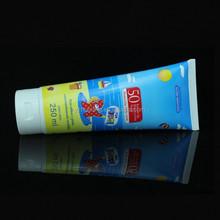 blue economical plastic tube with screw cap