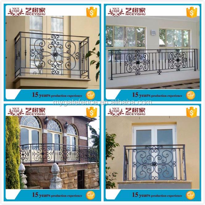 Yishujia f brica moderna decorativa cerca de ferro forjado for Balcony safety grill designs