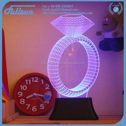 Unique design table night led circle ring light FS-2816