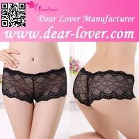 New latex women style Black Floral Lace Boyshorts