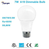 7W OMMI A19 Dimmable LED Bulb 300 Degree with UL/ Energy Star