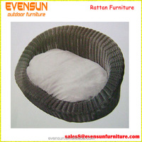 Wholesale Cheap Leisure Wicker Pet Bed Dog Bed Basket