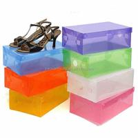 Transparent plastic shoe valet drawer storage box wholesale