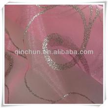 stiff organza fabric for christmas and wedding decoration