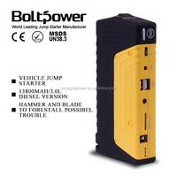 12000 mAh petrol&diesel car jump starter portable 12v 8ah emergency car battery jump starter long life span