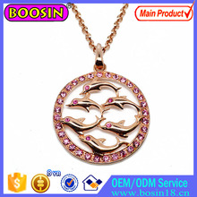Customized Crystal Flower Jewelry Necklace 2015 China Wholesale #19680