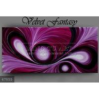 Handmade new Abstract modern acrylic painting purple on canvas, Modern art Velvet Fantasy